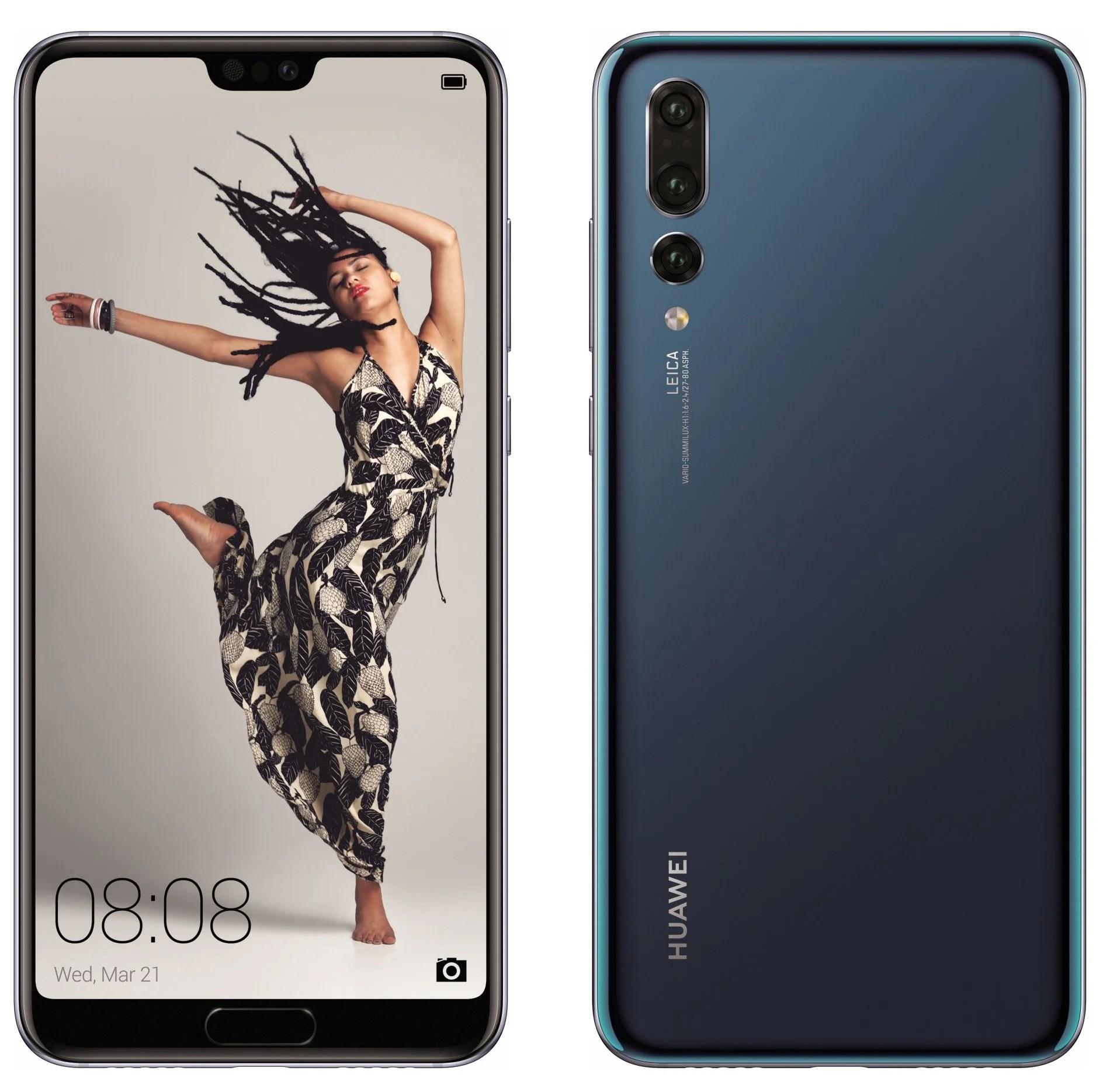 Huawei P20, P20 Lite et P20 Pro : découvrez les rendus presse