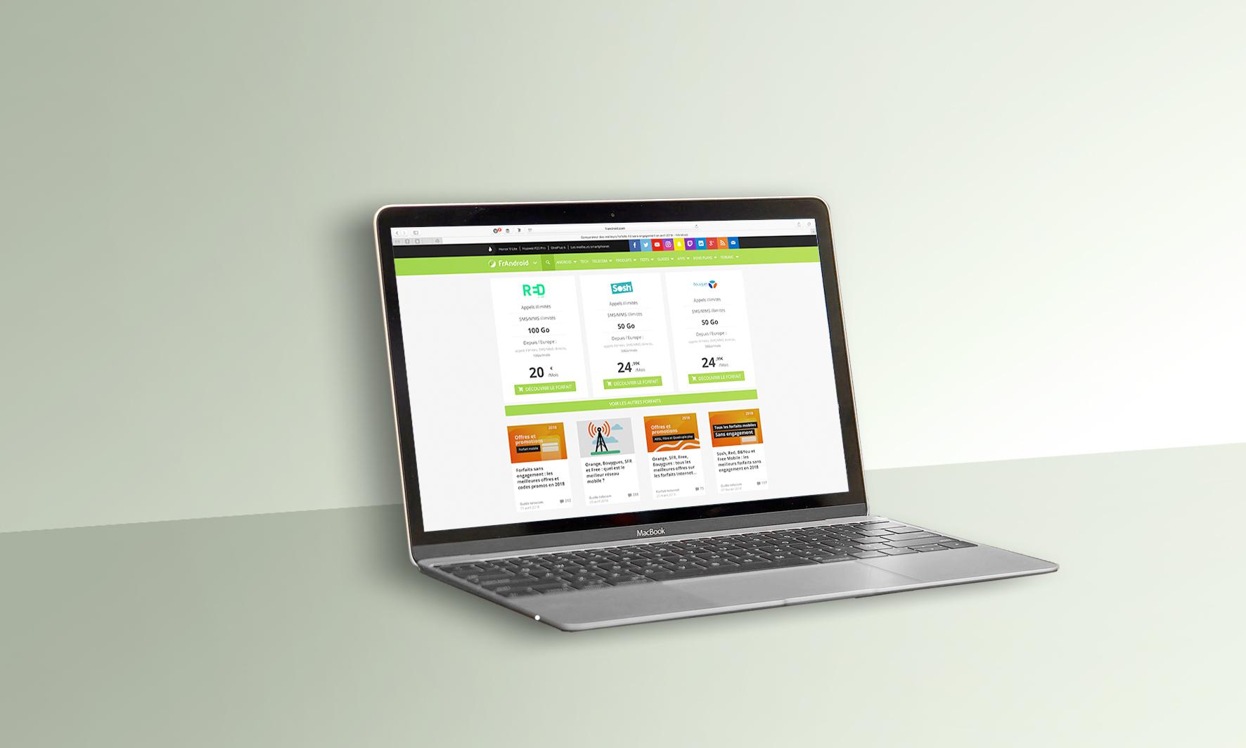 Comparateur de forfaits mobiles : nouveau sur FrAndroid, trouvez facilement votre prochaine offre mobile