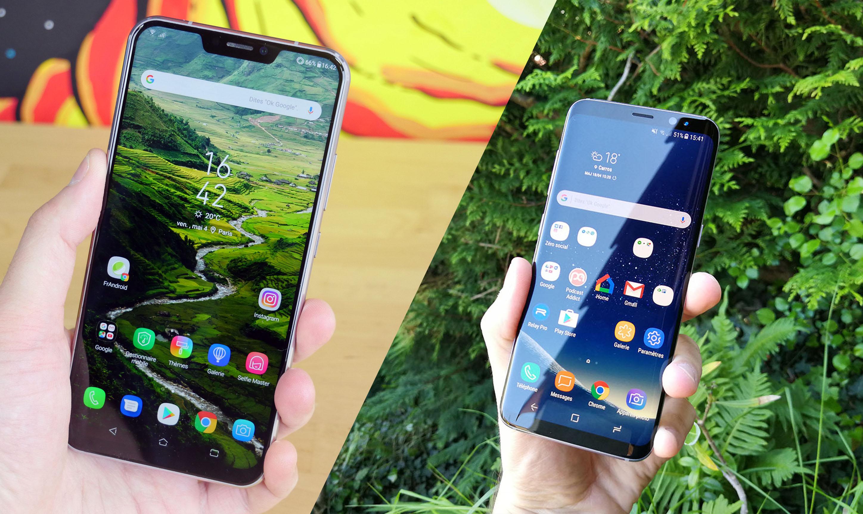 Asus Zenfone 5 vs Samsung Galaxy S8 : le milieu de gamme 2018 peut-il rivaliser avec le haut du panier de 2017 ?