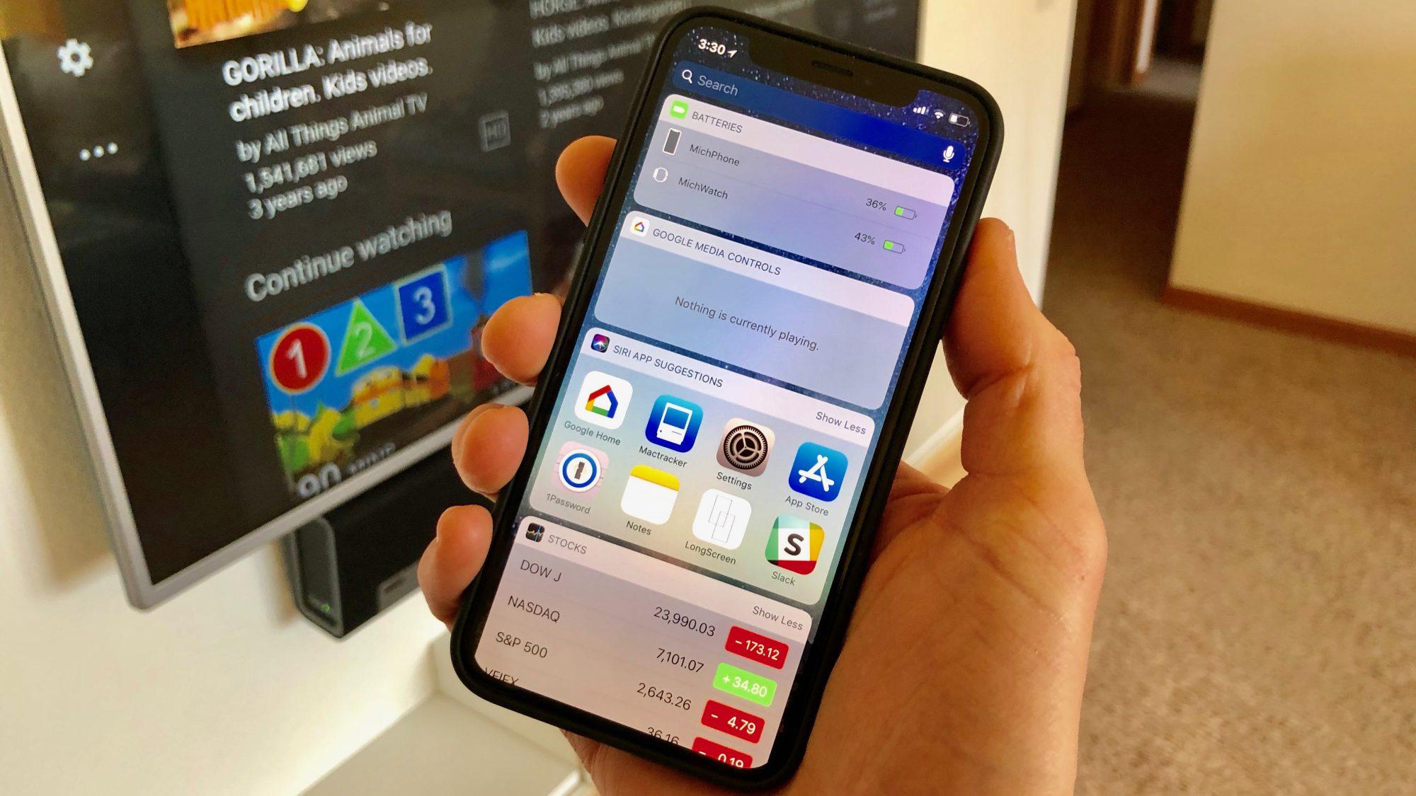 Google Home : un an après Android, l'application iOS se dote d'un widget de contrôle Chromecast