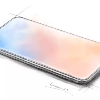 Un smartphone totalement bord à bord et sans encoche : Lenovo l'imagine et le tease