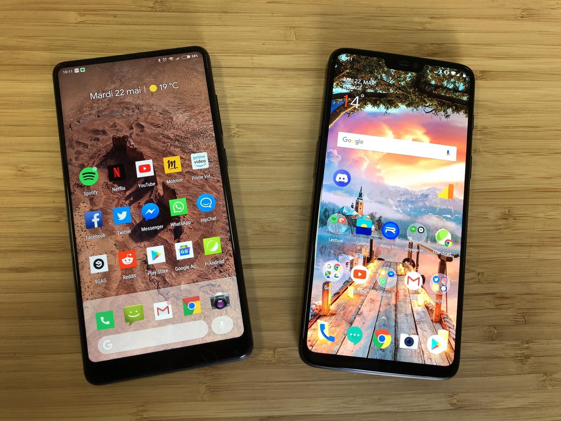 OnePlus 6 vs Xiaomi Mi Mix 2S : quel est le champion des smartphones premium à moins de 550 euros en 2018 ?