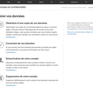 Apple et iCloud : comment télécharger ses données personnelles ?