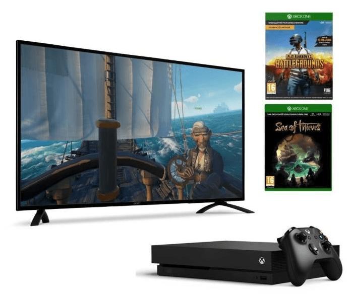 🔥 Bon plan : la Xbox One X avec deux jeux et un écran Acer 4K de 48,5 pouces à 769 euros