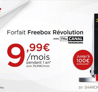Forfait Freebox Révolution : une nouvelle vente privée sur la meilleure box de Free (avec TV by Canal Panorama)