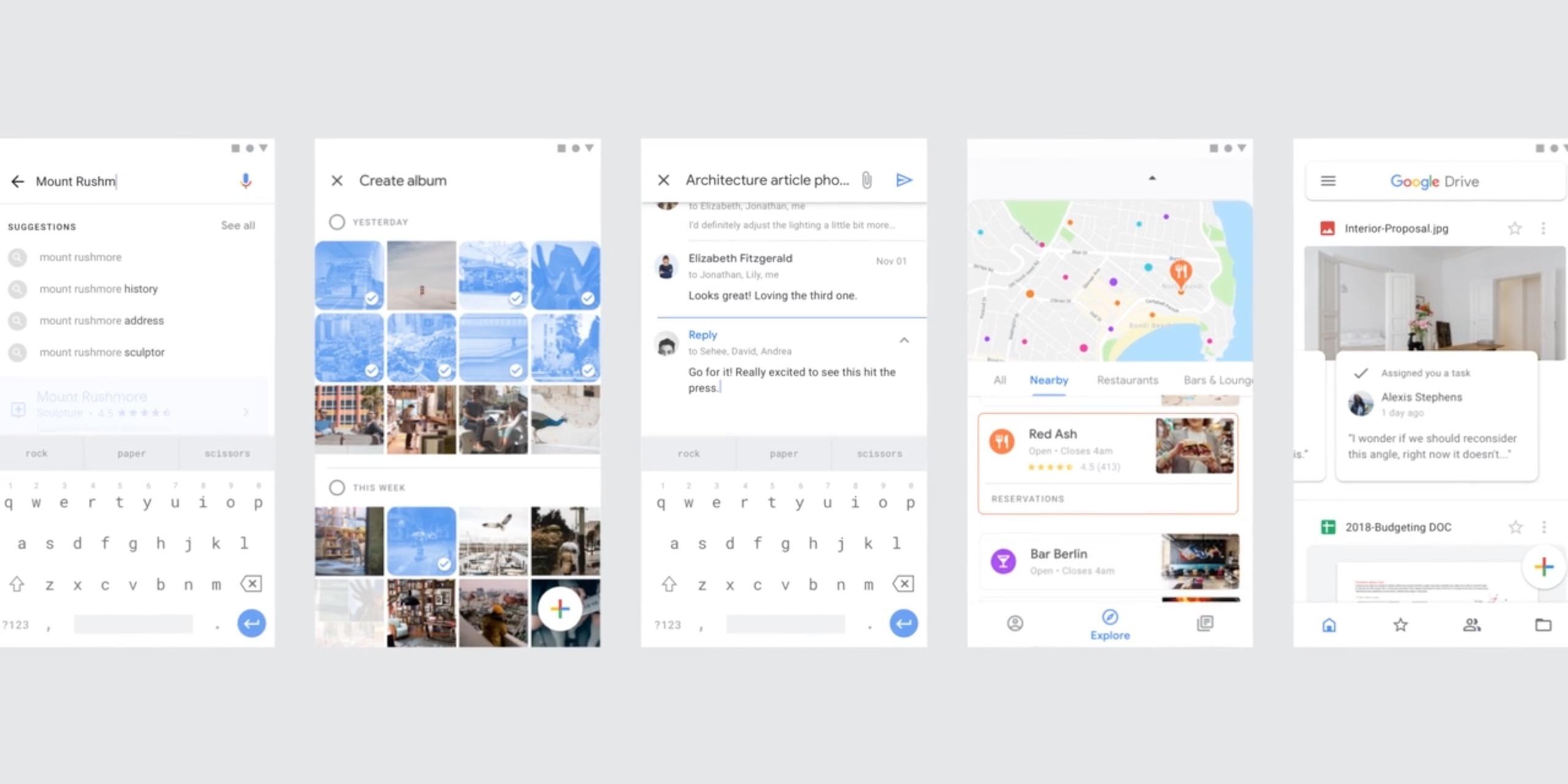 Maps, Drive, Photos et Gmail : Google imagine une nouvelle interface pour ses meilleures apps