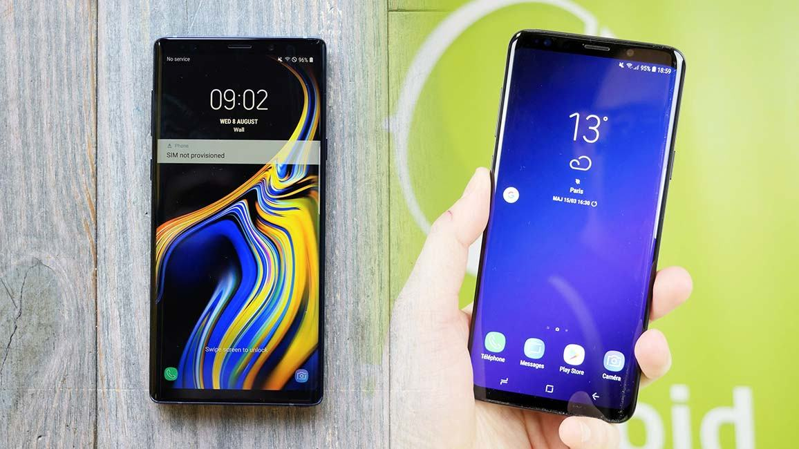 Samsung Galaxy Note 9 face au Galaxy S9+ : une différence vraiment marquée ?