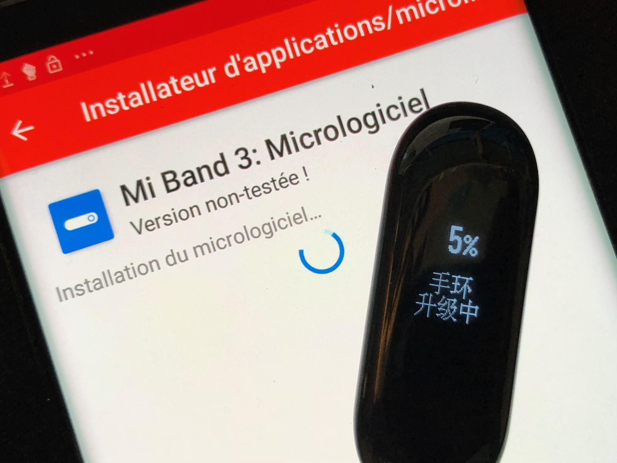 Comment passer le bracelet Xiaomi Mi Band 3 en français ?
