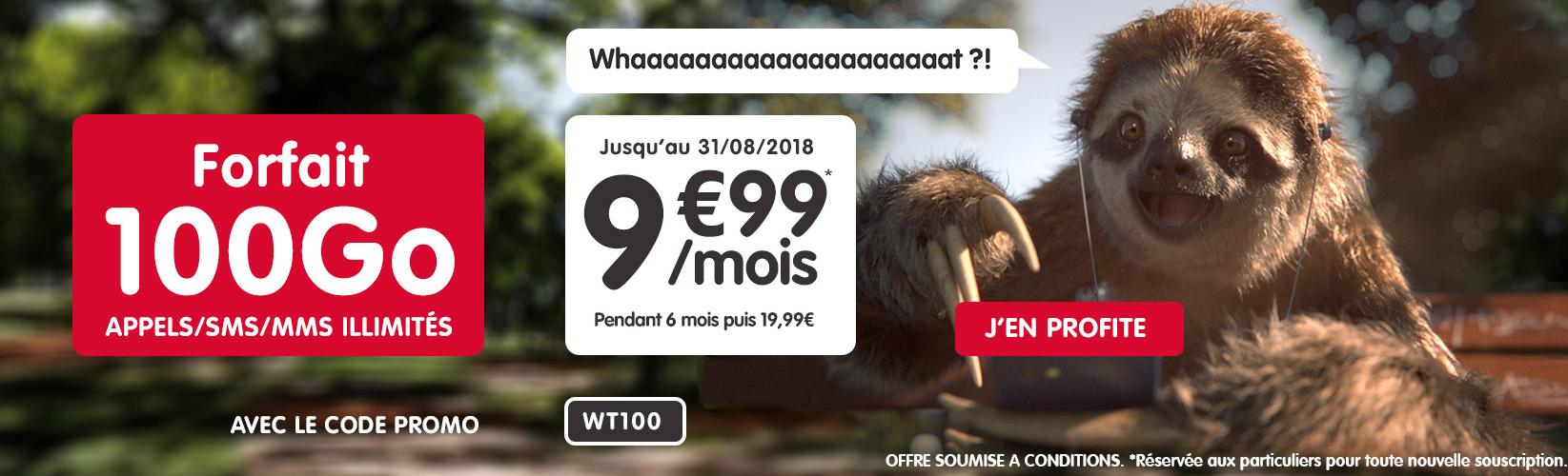 🔥 Bon plan : forfait mobile 100 Go pour 9,99 euros par mois pendant 6 mois chez NRJ Mobile