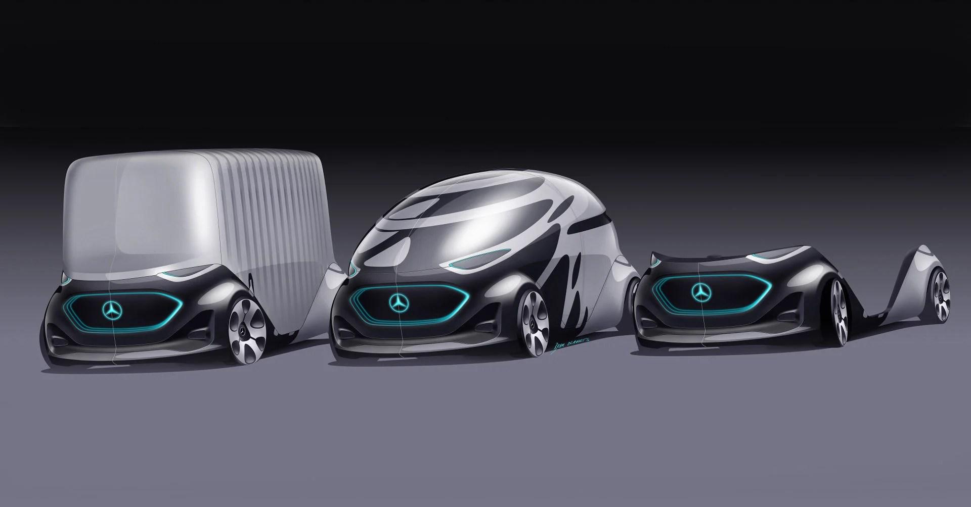 La voiture autonome du futur de Mercedes est modulable (et moche)