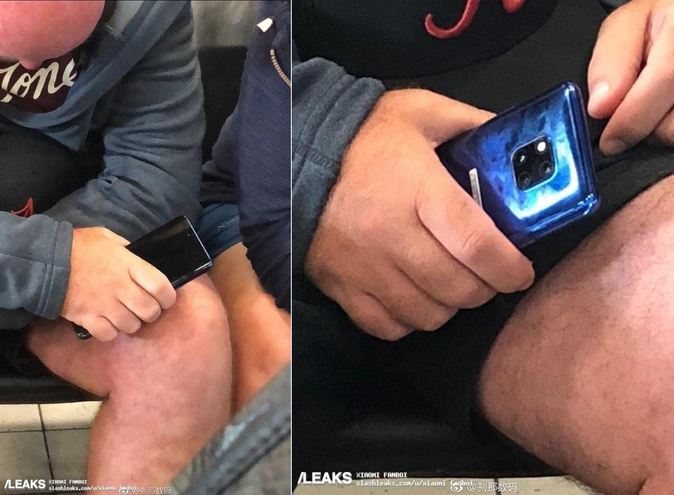 Un Huawei Mate 20 Pro sauvage apparaît dans le métro