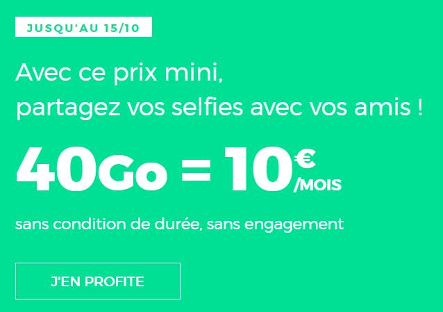 🔥 Dernier jour : le forfait mobile RED by SFR avec 40 Go de 4G revient à 10 euros/mois à vie