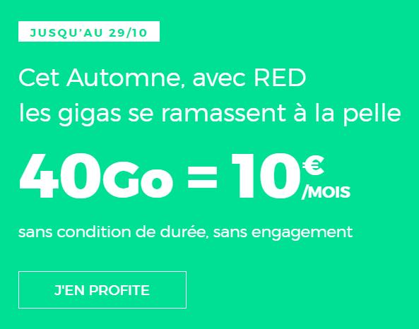 🔥 Prolongations : forfait mobile illimité 40 Go pour 10 euros par mois à vie chez RED SFR, comment en profiter ?