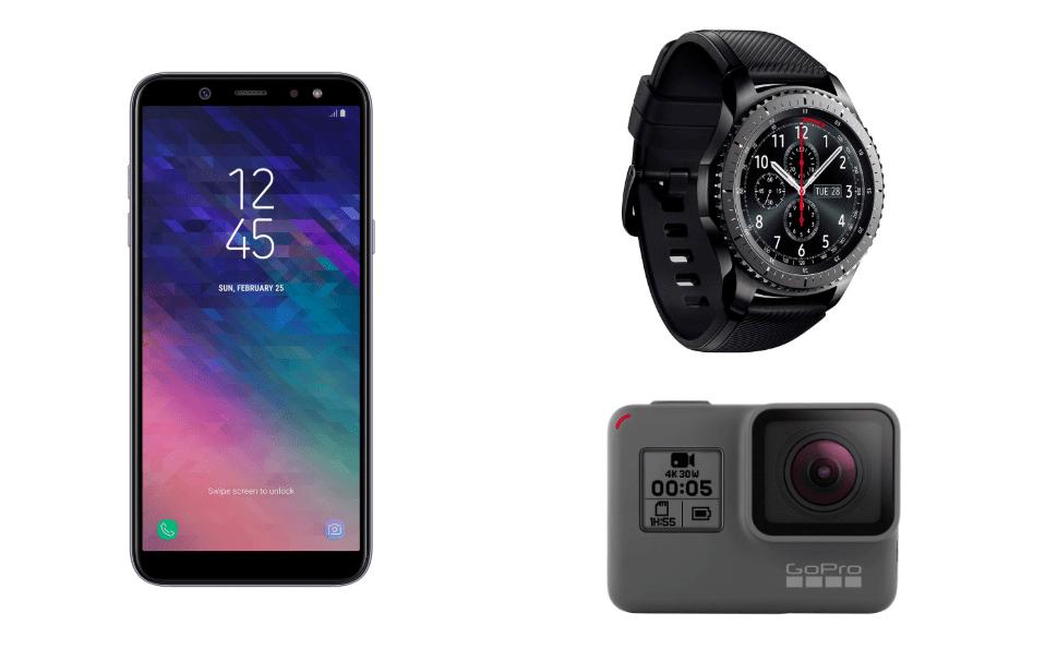 Samsung Galaxy A6 à 169 euros, Samsung Gear S3 à 199 euros et GoPro Hero5 Black à 219 euros sur Rakuten