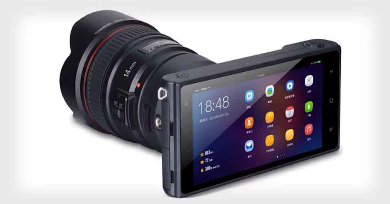 Yongnuo YN450 : un appareil photo sous Android avec objectifs Canon interchangeables
