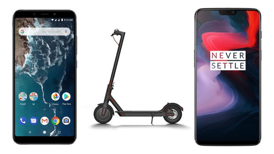 Xiaomi Mi A2 à 193 euros, OnePlus 6 à 352 euros et Xiaomi M365 à 352 euros sur GearBest