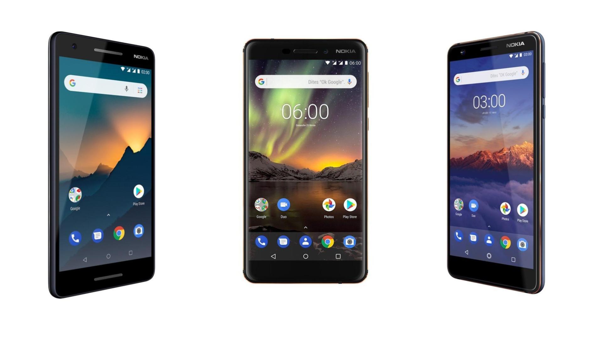 Les Nokia 2.1, 3.1 et 6.1 sont plus abordables que jamais avec ces nouvelles ODR