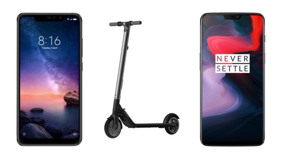 Xiaomi Redmi Note 6 Pro à 154 euros, OnePlus 6 à 352 euros et Ninebot Segway ES2 à 333 euros sur GearBest