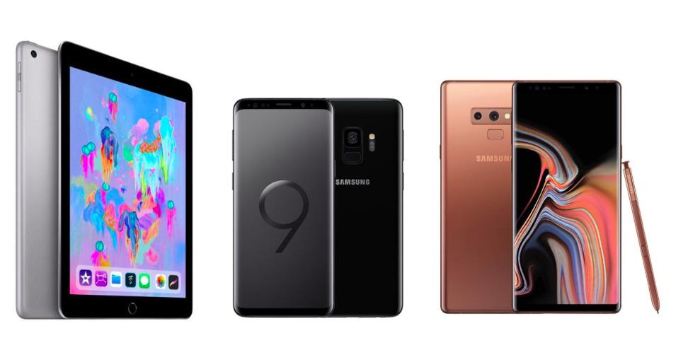 iPad 2018, Asus Zenfone 5 et Samsung Galaxy S9 et Note 9 à prix cassés pour le Cyber Monday d'eBay