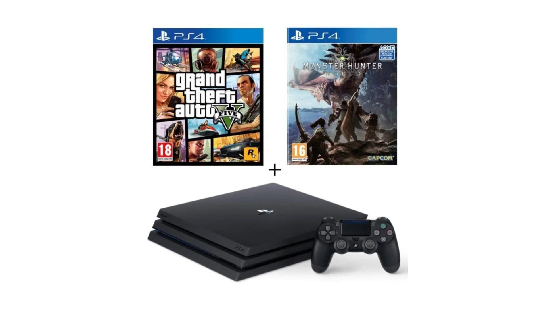 🔥 Bon plan : la PS4 Pro à 339 euros avec GTA et Monster Hunter sur Cdiscount