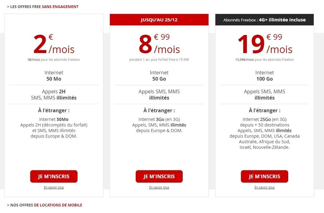 Free Mobile : le volume de data 4G du forfait intermédiaire diminue