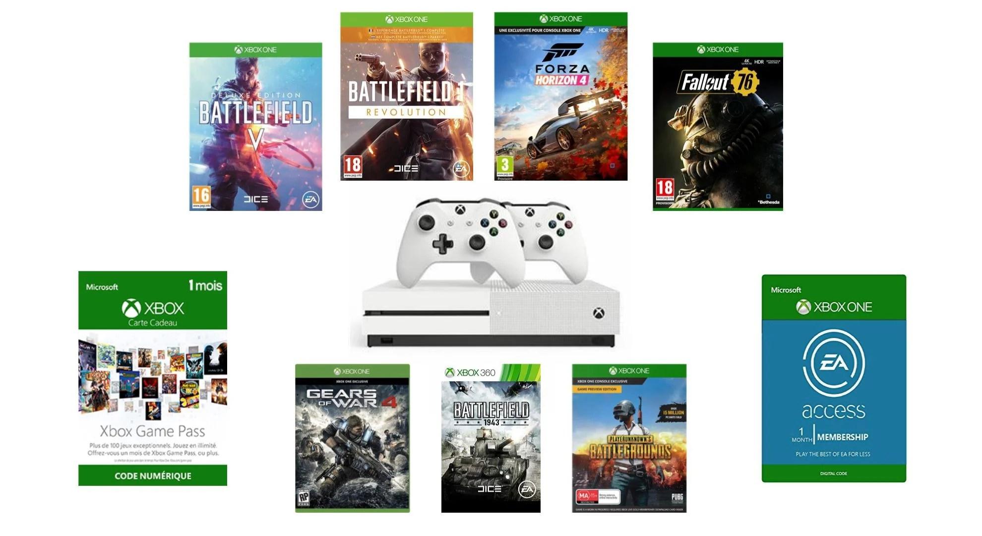 🔥 Bon plan : méga pack Xbox One S 1 To 2 manettes + 7 jeux à 249 euros