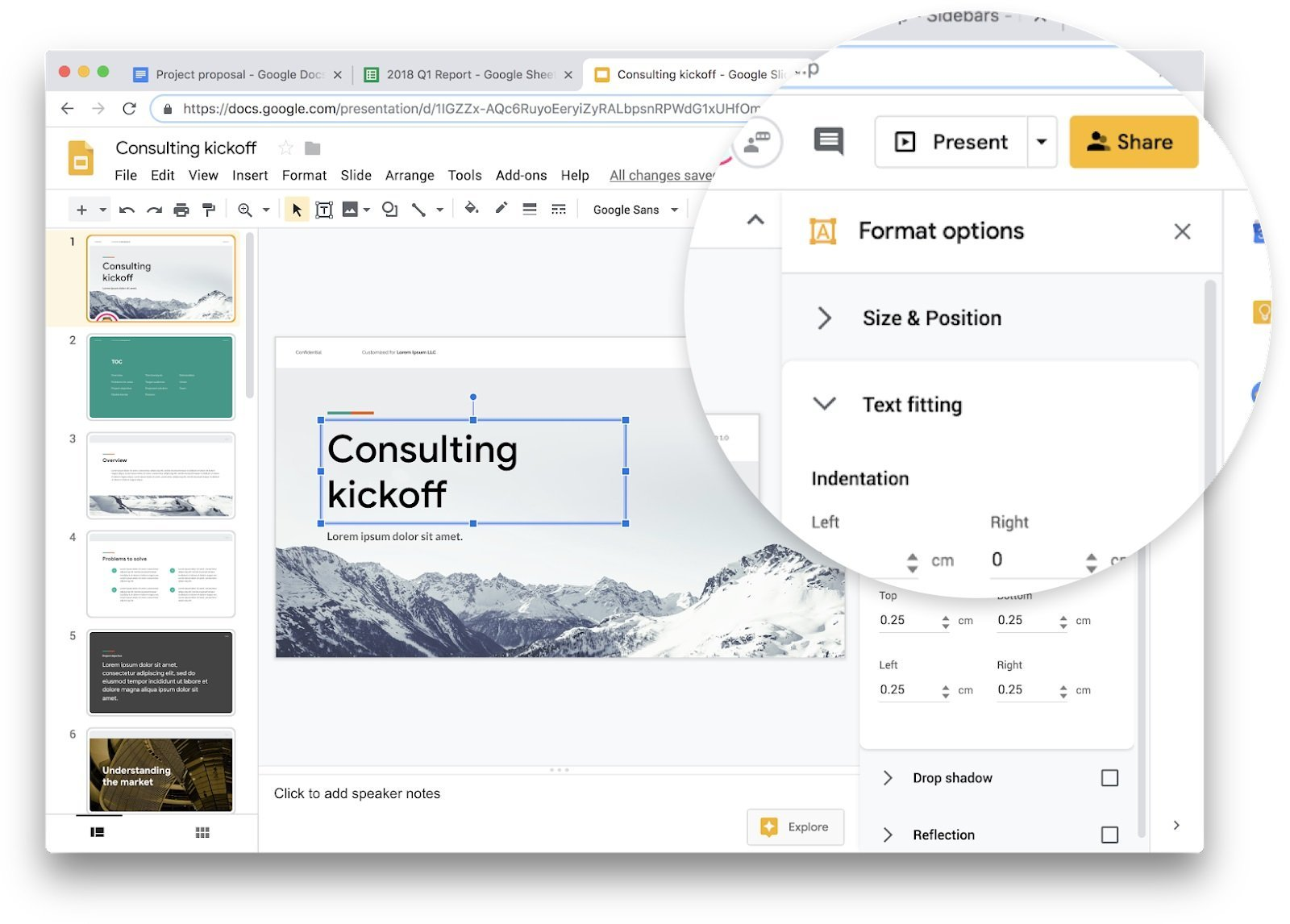 G Suite : Google Docs, Sheets, Slides et Sites passent au Material Design sur le web