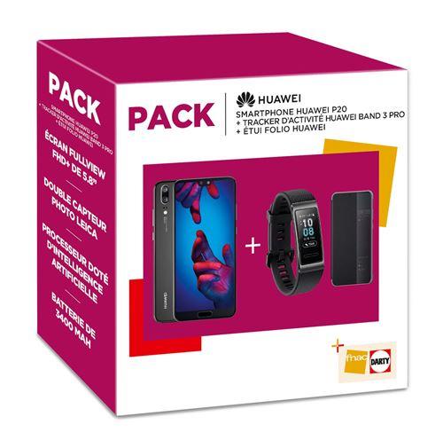 🔥 Soldes 2019 : le Huawei P20 + Huawei Band 3 + Etui Folio à 299 euros