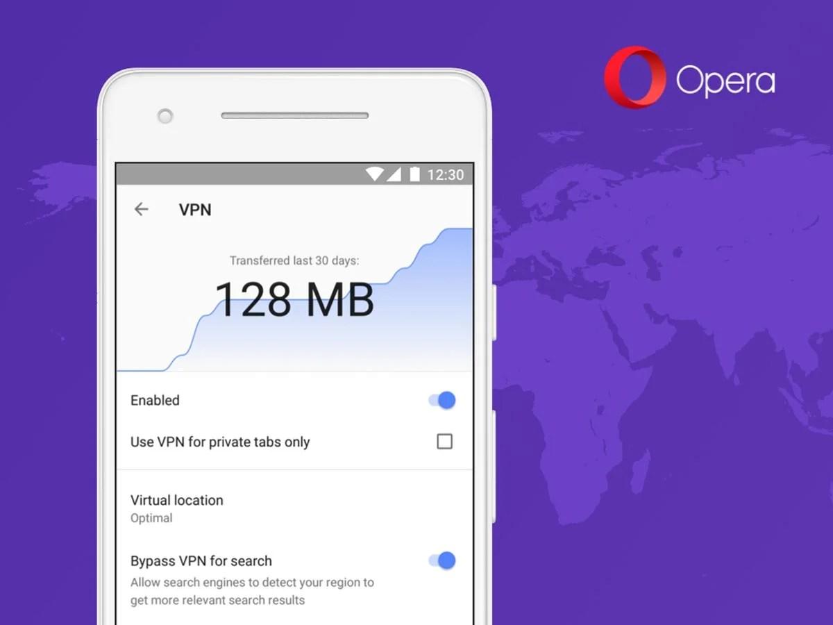 Opera intègre un VPN gratuit à son navigateur Android