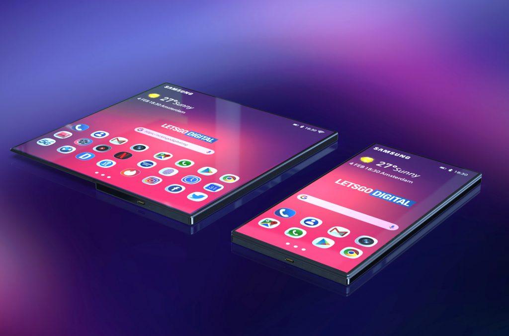 Un graphiste imagine un concept de smartphone pliable Samsung séduisant