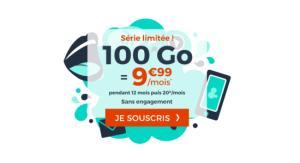 Forfait mobile : 100 Go de 4G pour 9,99 euros par mois via une offre sans engagement