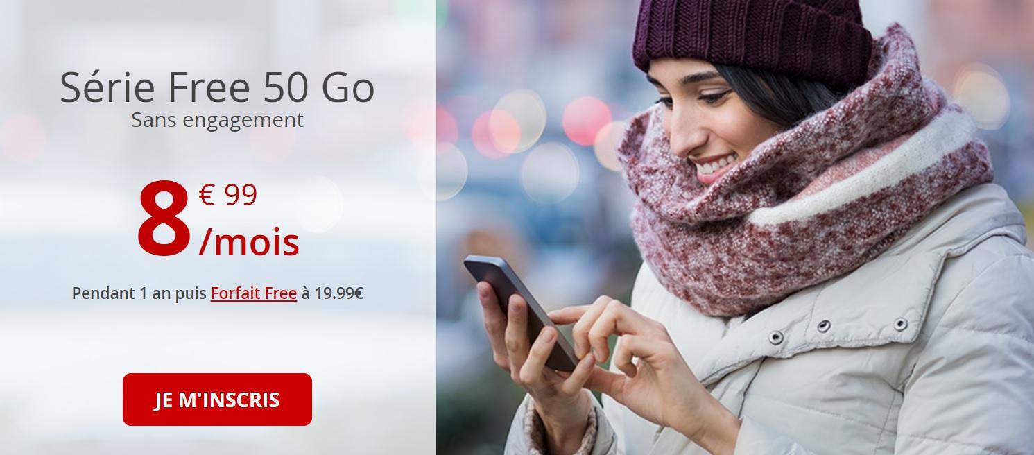 🔥 Bon plan : le forfait Free mobile 50 Go est à 8,99 euros par mois pendant un an