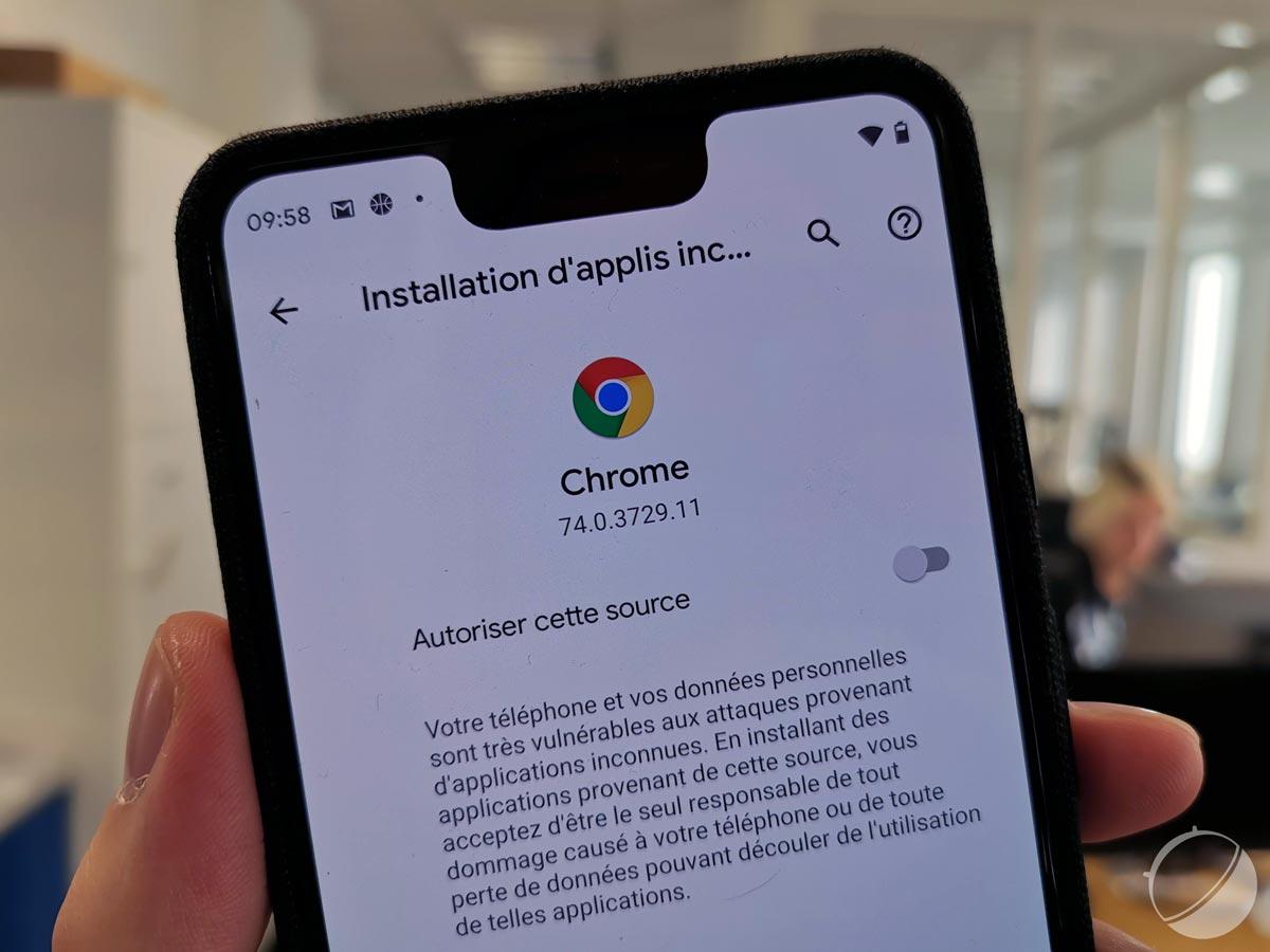 Android 10 Q protégera toujours plus les utilisateurs installant des APK