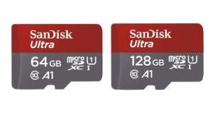 🔥 Bon plan : microSD SanDisk Ultra 64 Go à 10 euros et 128 Go à 20 euros (A1, classe 10)