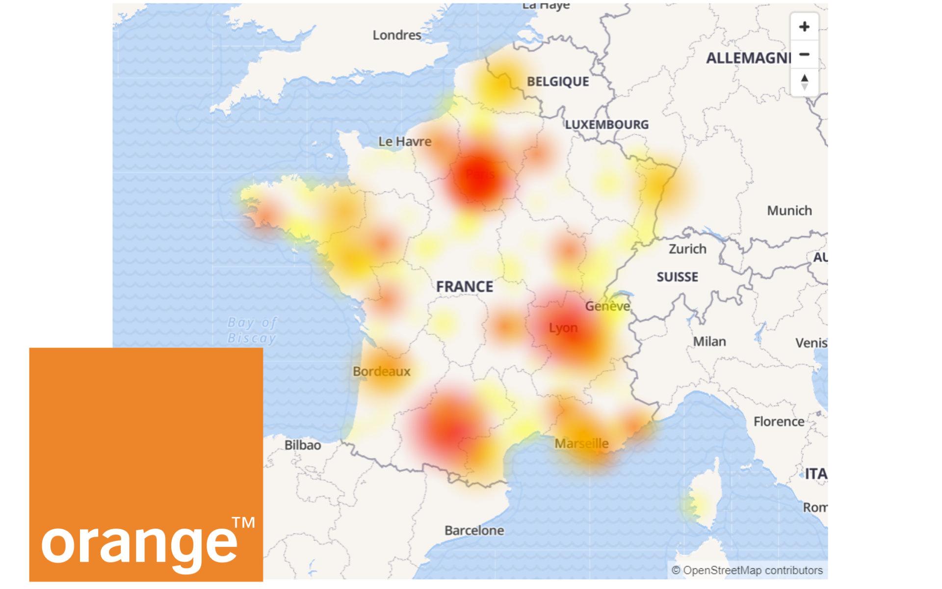 Orange : la panne réseau est en cours de résolution
