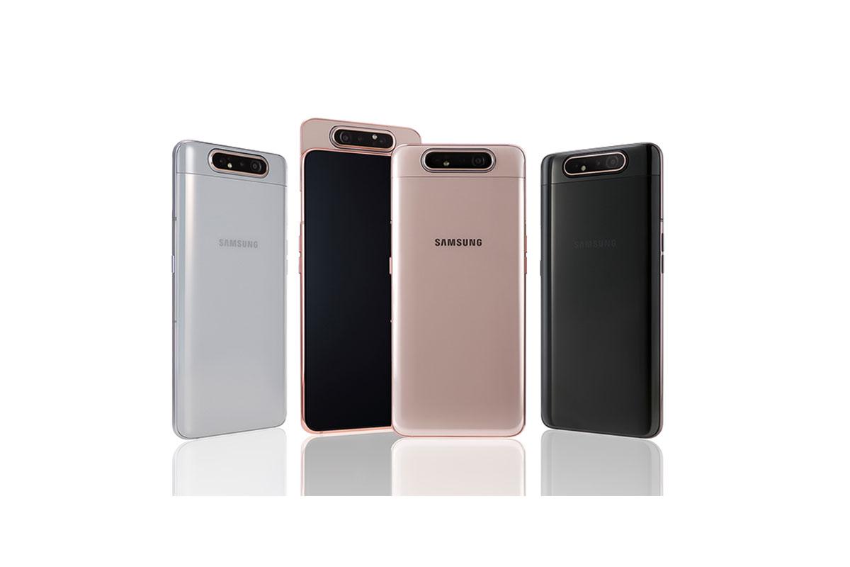 Samsung Galaxy A80 officialisé : triple appareil photo rotatif pour zéro bordure