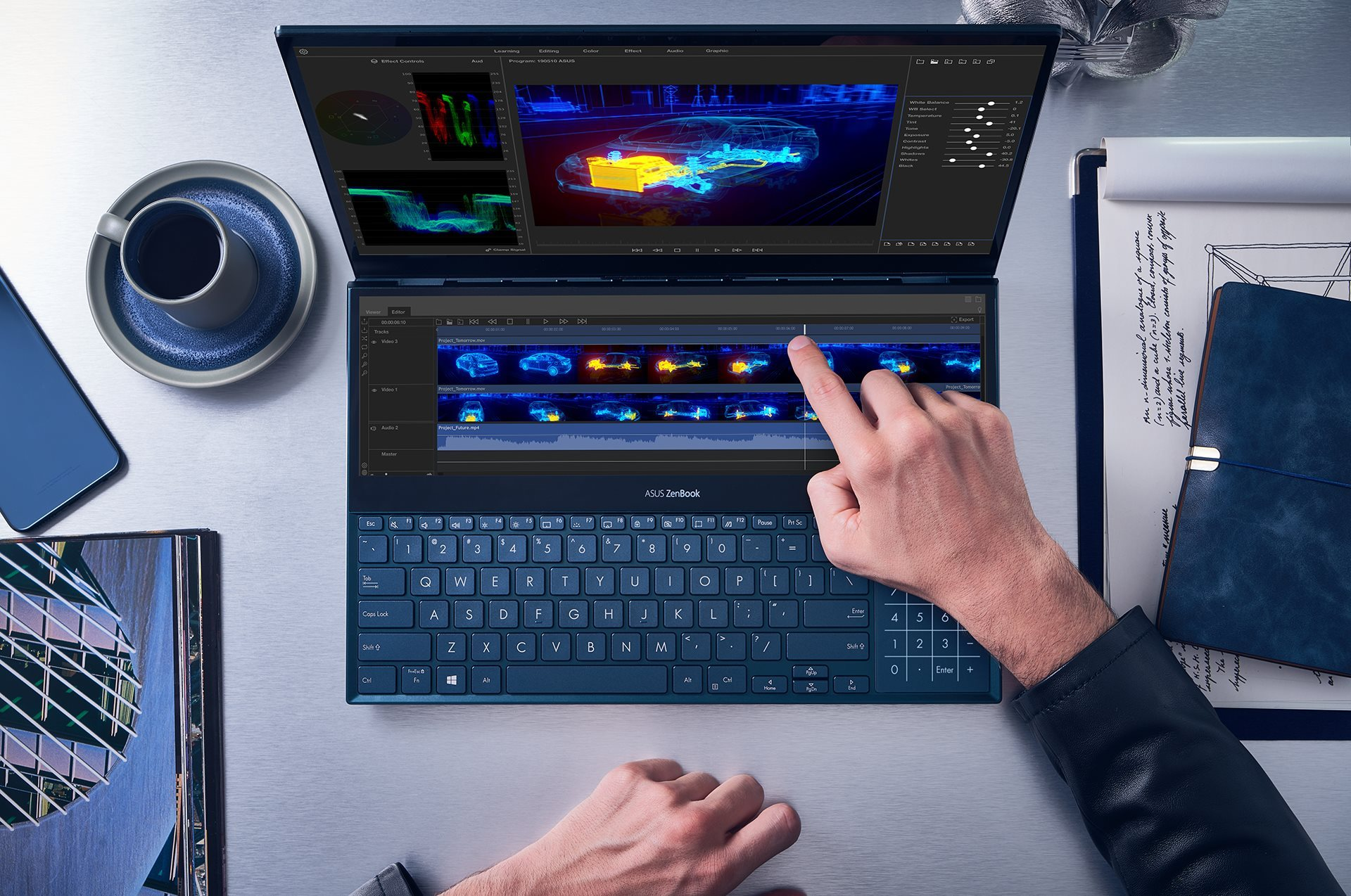 Asus ZenBook Pro Duo : place à l'OLED 4K et à un large second écran
