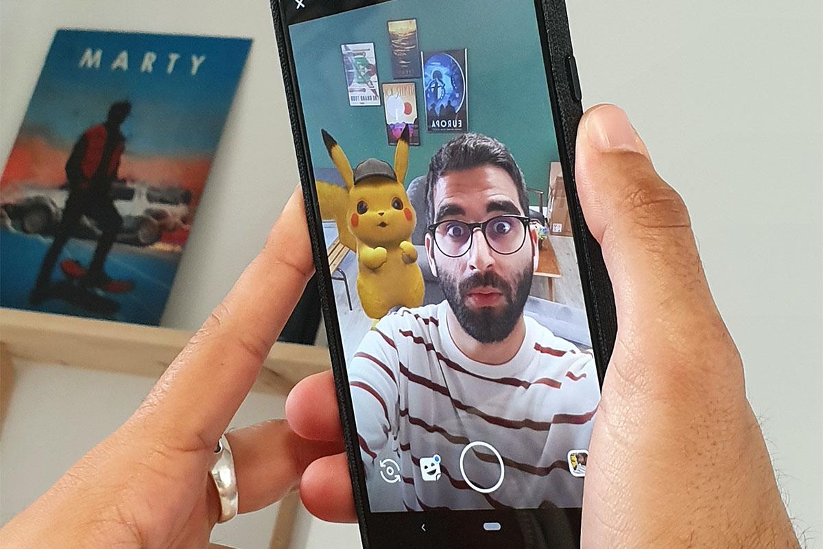 Comment faire un selfie avec Détective Pikachu sur Google Playground