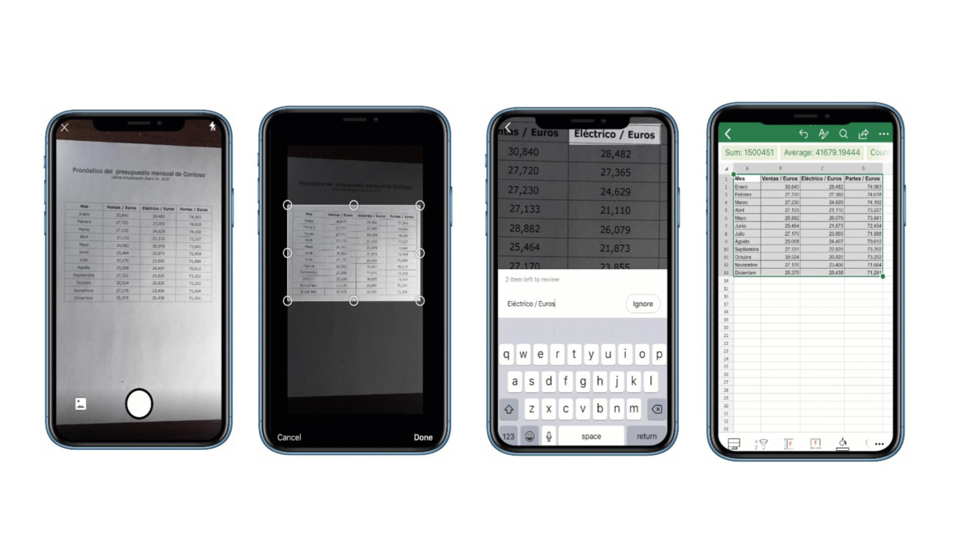 Excel pour iPhone et Android : prenez tout simplement en photo un tableau pour l'importer