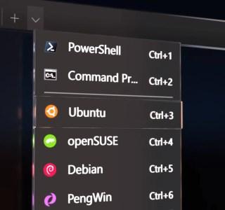 Windows 10 se rapproche un peu plus de Linux: interface graphique et nouveau terminal