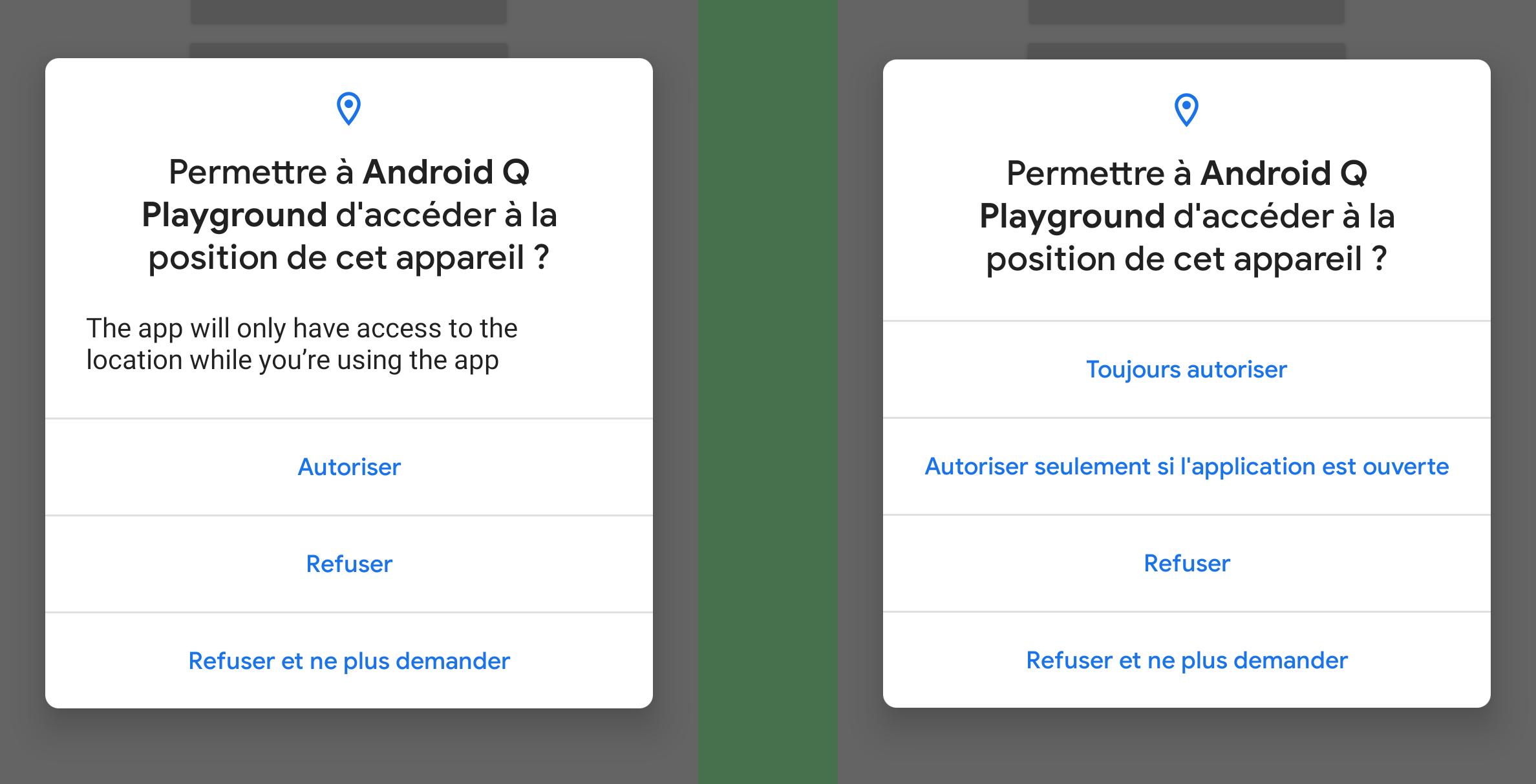 Android Q promet plus de transparence sur l'accès à votre position GPS