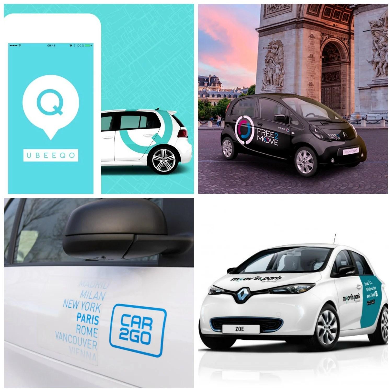 Ubeeqo remplace Autolib' : quelles différences avec Free2Move, Moov'in.Paris et Car2go ?