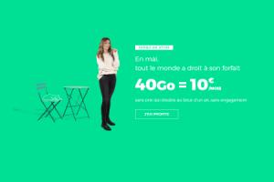 Bon plan : le forfait 40 Go à 10 euros par mois à vie est de retour chez RED by SFR