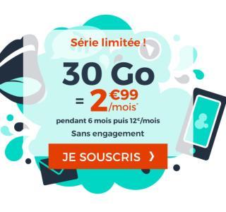 Forfait mobile : dernier jour pour l'offre 30 Go à 2,99 euros par mois