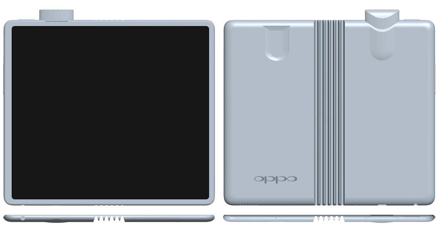 Le smartphone pliable s'allie à la caméra pop-up dans un brevet d'Oppo