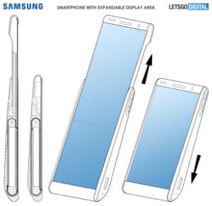 Samsung imagine un concept de smartphone extensible à écran déroulable