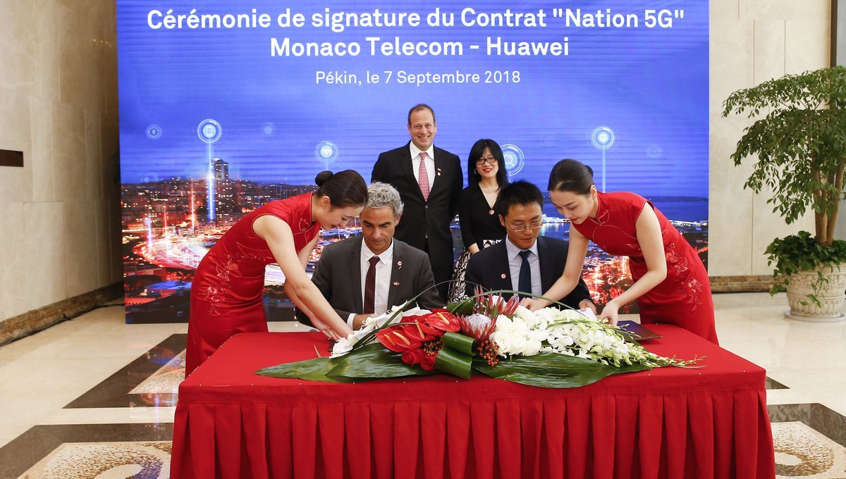 Grâce à Huawei, Monaco devient le premier État complètement couvert en 5G