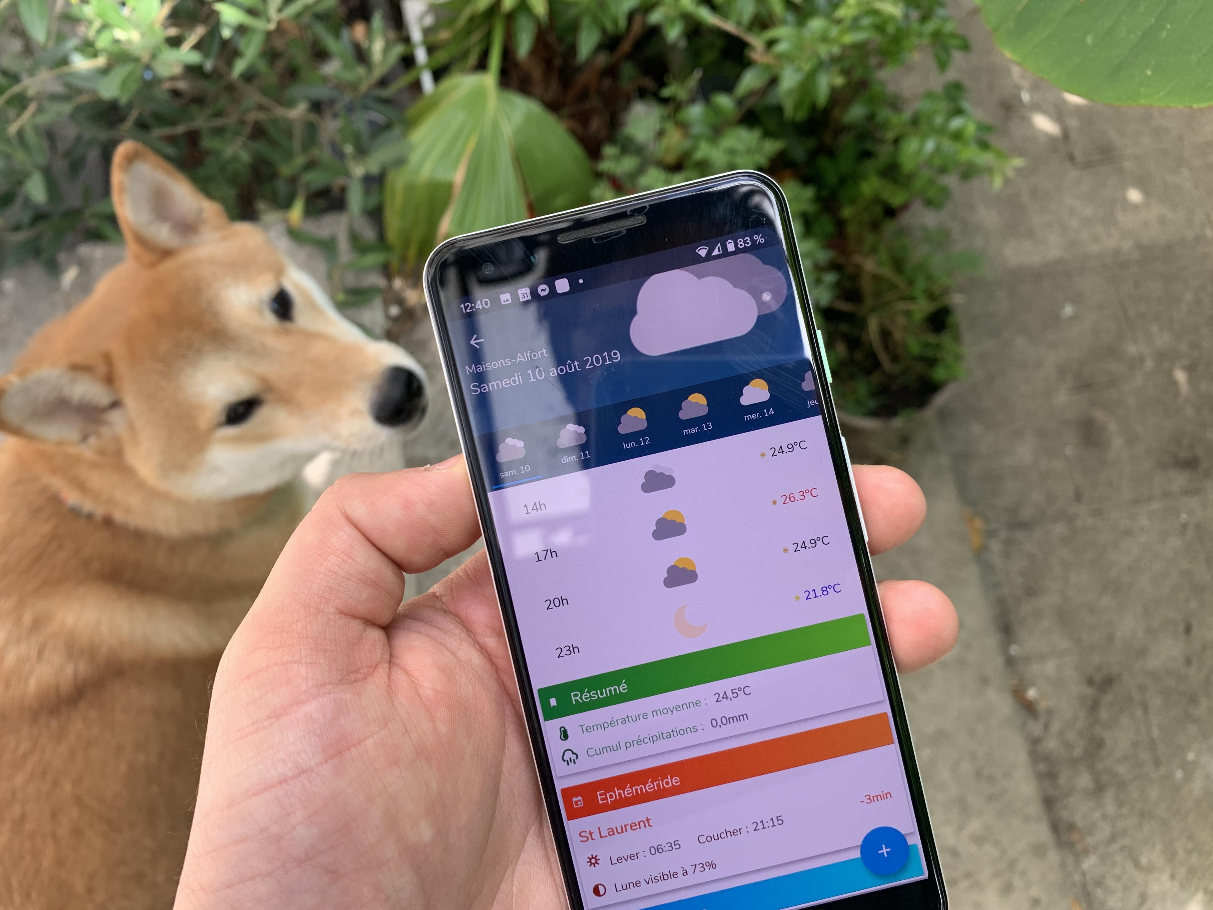 L'app de la semaine : j'utilise la même app météo que les agriculteurs