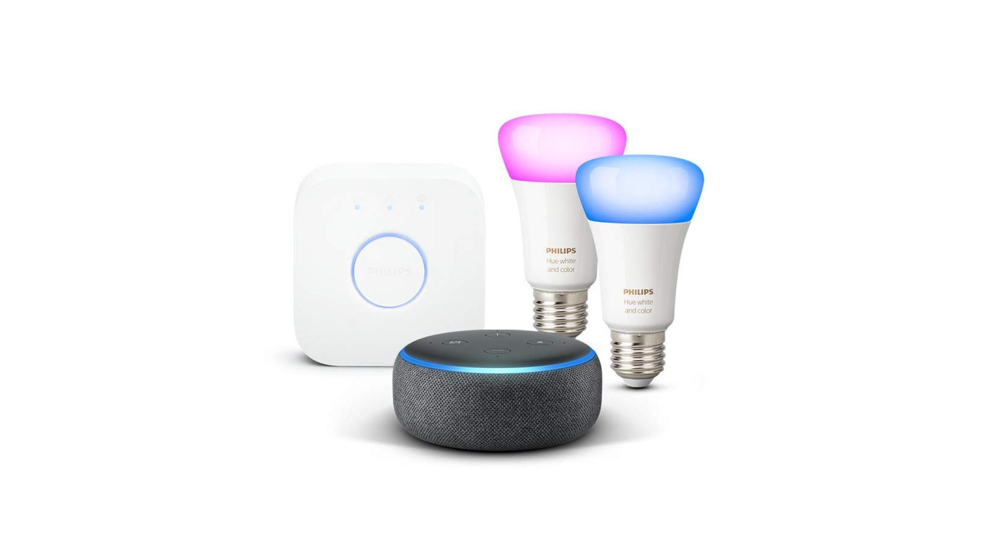 Echo Dot + Philips Hue à 114 euros, le combo parfait pour commencer la domotique