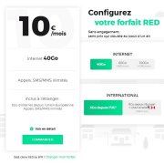 RED by SFR change de formule : un seul forfait mobile et des options